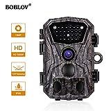 Boblov Wildkamera H883 18MP HD 1080P Jagdkamera 120°Weitwinke Wasserdicht IP56 Beutekameras Full HD Profi Tracker Nachtsicht überwachungskamera