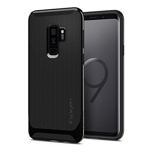 Spigen 593CS22942 Neo Hybrid für Samsung Galaxy S9 Plus Hülle, Zweiteilige Modische Muster Silikon und PC Rahmen Schutzhülle Case Shiny Black