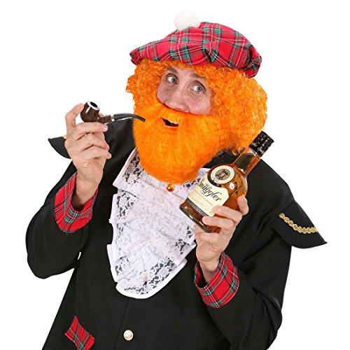 Der Dude Perücke Kostüm - NET TOYS Wikinger Bart Rotbart Schotte rot braun Seemannsbart Nordmann Vollbart Barbarenbart Zwerg Faschingsbart