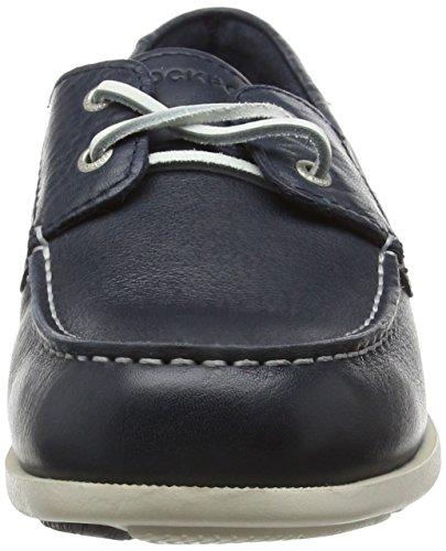 Rockport 2-Eye, Chaussures Bateau Homme Bleu - Bleu (Bleu marine)