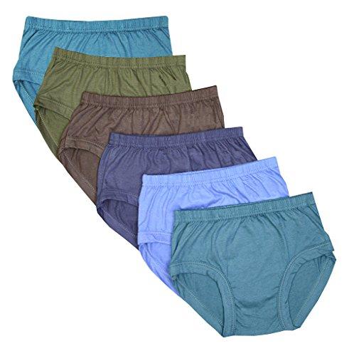 Elk Kids Baby Girls Plain Panty Brief Innerwear 6 Piece Combo