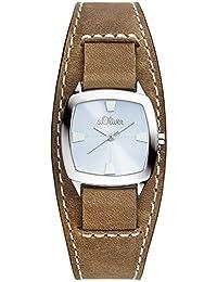 s.Oliver Damen-Armbanduhr Analog Quarz Leder SO-2971-LQ