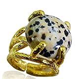 Riyo Jaspis 18 kt vergoldet Brautringe sz 6 gprjas6-40003