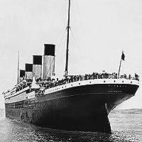 Titanic STERN View canvas, multicolor, 40x 40cm