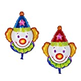 Homyl Pack of 20 Large Clown Head Mylar Foil Balloon Circus Carnival Party Decor 70 x 62cm
