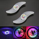 Luce Raggi, OSAN Bici Lampada a Ruote Raggio Luci Bicicletta LED Impermeabile RGB 3 Modelli per Decorazione Sicurrezza Allerta