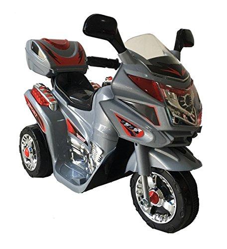 Trendsky Kinder Motorrad Elektrofahrzeug Bike Kindermotorrad Elektromotorrad (Silber)