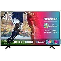 "Hisense 43AE7000F, Smart TV LED Ultra HD 4K 43"", HDR 10+, Dolby DTS, Alexa integrata, Tuner DVB-T2/S2 HEVC Main10 [Esclusiva Amazon - 2020]"