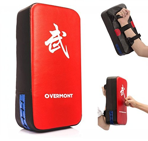 Overmont PU Leder Schlagpolster Schlagkissen Kickschild Boxsack für Kickboxen Thaiboxen Karate