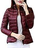 Damen Daunenjacke Kapuze Winter Kälteschutz Sweatjacke Daunen Jacke Outdoor Reißvrschluss