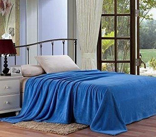 Plazatex Micro plush Blanket, Solid, King, Slate Blue by Plazatex (Solid Slate)