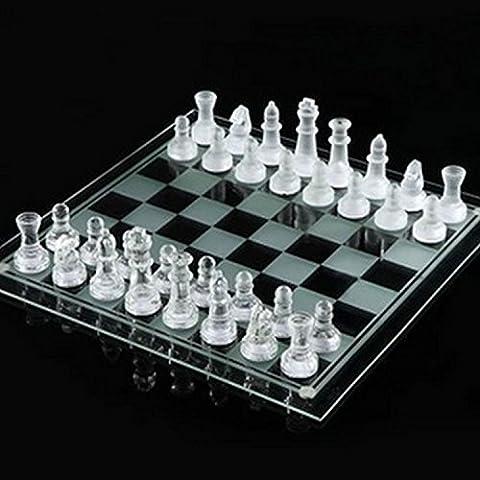 [Amaterasu] Crystal utiliza como un juego de ajedrez clara y Frost (blanco transparente y delgada) de cristal juego de ajedrez de teatro