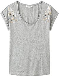 Promod T-Shirt mit Paillettenbesatz