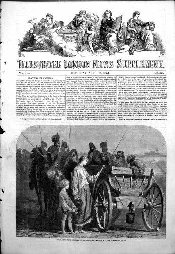 Antiker Druck von russischen Gefangenen auf Weise Sibirien ein Yvons-Pferdewagen 1854