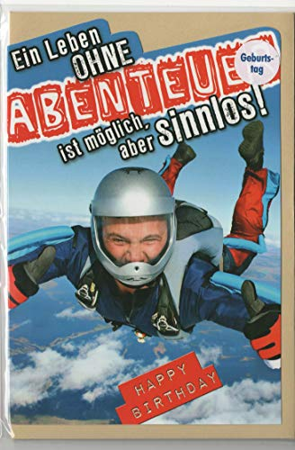 """Geburtstagskarte""""Abenteuer"""", B6 + Umschlag"""