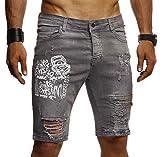 LEIF NELSON Herren Männer Jungen Sommer Kurze Biker Jogger Jeans Hose Shorts Jeanshose Chinos Cargo Bermuda Basic