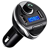 Criacr Bluetooth FM Transmitter, Wireless In-Car FM Transmitter Radio Adapter Car Kit, Universal