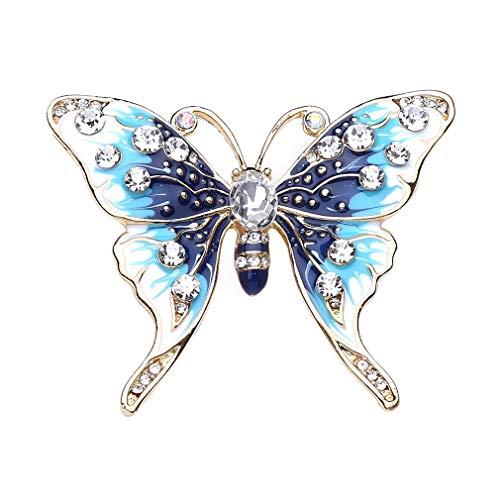 Glänzende Strasssteine ??Schmetterling Broschen Pin Dekor Geschenk Schmetterling Insekt Brosche nützlich und praktisch