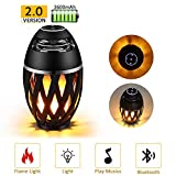 Gejiaseller Led Flame Speakers, Flame Torch Atmosphere Speaker Bluetooth 4.2 Wireless Portable Outdoor