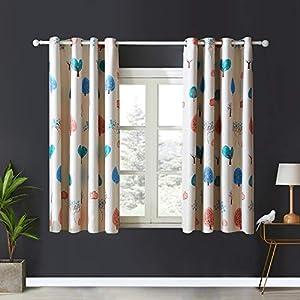 Topfinel Verdunklungsvorhänge mit Ösen Baum Mustern Blickdichte Lange Gardinen für Kinderzimmer Fenster 2er Set je…