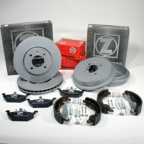 Zimmermann Disco pr-n 1LA, 1ZQ Coat Z/freno + Pastiglie freno anteriore + tamburo freno + ganasce freno per posteriore