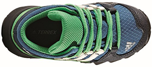 adidas Kinder Stiefel TERREX MID GTX I core blue/chalk white/energy green