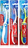 3xColgate PORTABLE FOLDING Soft Toothbrush Various Colours Holiday Travel