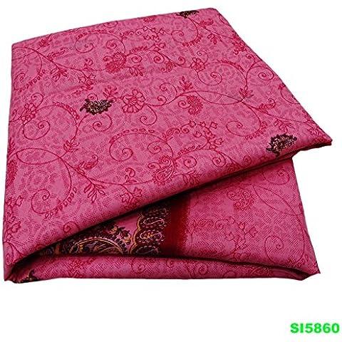 Indio Mezcla De Seda Sari De La Vendimia De Tela De Color Rosa Vestido Impreso Floral De Las Mujeres Ocasionales Del Desgaste Sari 5 Silla