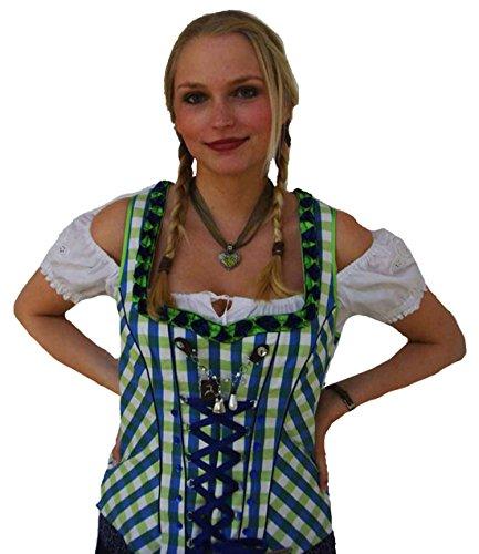Spieth & Wensky Damen Trachtenmieder grün blau kariert Gr.32