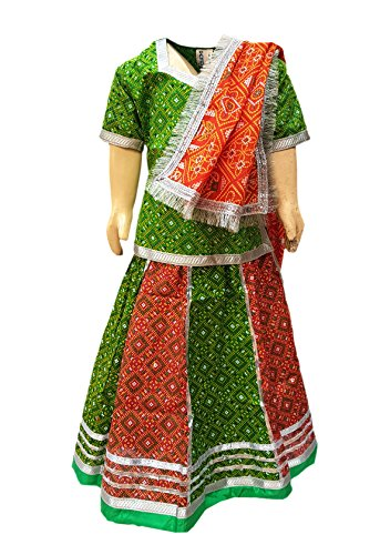 bd6c5df78 KAKU Fancy Dresses Rajasthani Lehenga in Cotton Indian State Traditional  Wear for School Annual Function/