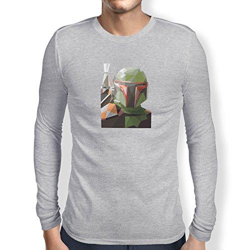 TEXLAB - Poly Bounty Hunter - Herren Langarm T-Shirt Grau Meliert