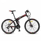 YEARLY Berg klappräder, Erwachsene klappräder Geschwindigkeit Männlich Off-road- Doppelter schock Klappräder-Rot 26inch