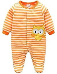 Recién nacido mameluco invierno Ropa de una pieza espesar Traje bebé mono de Niños Niñas Bodysuit Pijama Manga Larga Trajes