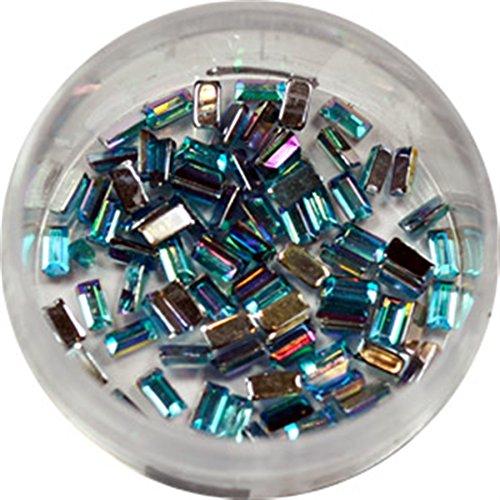 RM Beautynails dans bleu clair rectangle strass paillettes strass env. 50 pièces pour Nail Art et Manucure Design