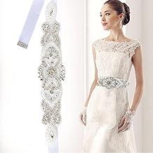 Kicode Nupcial boda vestido de fiesta accesorios cinturón de cintura accesorio Rhinestone cinturón decoración