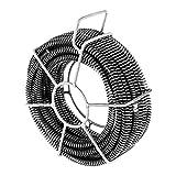 MSW - Set de 6 desatascadores espirales - 2,45 m / Ø16 mm - Longitud total 14,7...