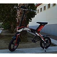"Bicicleta scooter eléctrica 300W 14"" plegable MouneK M-01 batería Litio 48V 4,4A precio oferta muy barata velocidad de 25 km/h autonomía 25 km Pesa 17kg ..."
