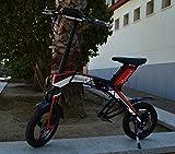 """Bicicleta scooter eléctrica 300W 14"""" plegable MouneK M-01 batería Litio 48V 4,4A precio oferta..."""