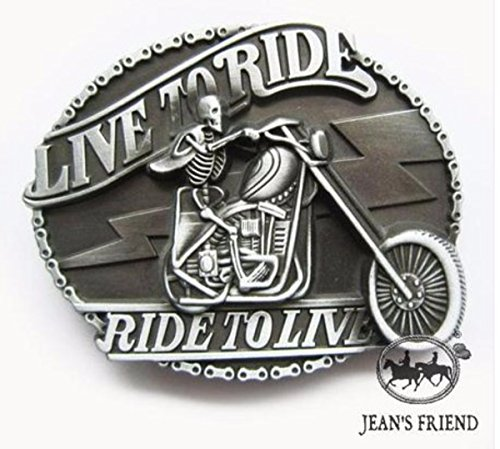 napolo Western Buckle Belt Cowboy gurtelschnallen New Motorrad Live to Ride