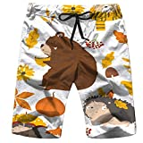 Men's Swim Trunks Cute Moon Sleeping Smiling Cloud Starry Art Nature Quick Dry