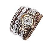TOWAKM Regarde, Ccq Vintage Femmes Strass Cristal Bracelet Cadran Analogique-Bracelet...