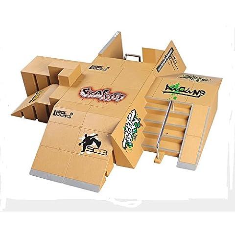 WayIn® 13pcs Skatepark kit de piezas de rampa para la Tecnología de Cubierta Circuit Board Mini Finger Skateboard Fingerboards Parques Ultimate