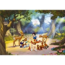 Diseño de AG FTDxxl 0265 Fototapeten Bildtapete de pared-de tela Disney fotomurales diseño de Blancanieves y los