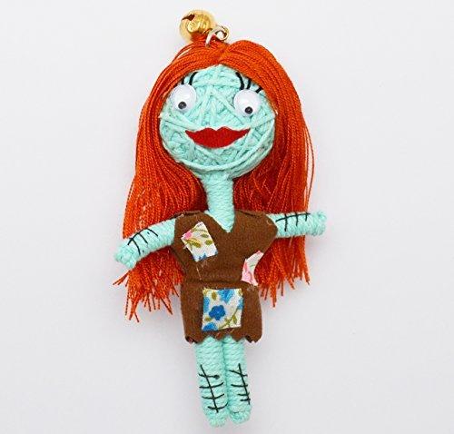 (VD009) Sally Night Before X-mas Handmade String Voodoo Doll Keychain by HartShop Voodoo Dolls