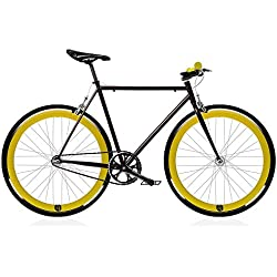 Bicicleta FIX 2 amarilla. Monomarcha fixie / single speed. Talla 53…