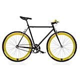 Bicicleta FIX 2 amarilla. Monomarcha fixie / single speed. Talla 56...