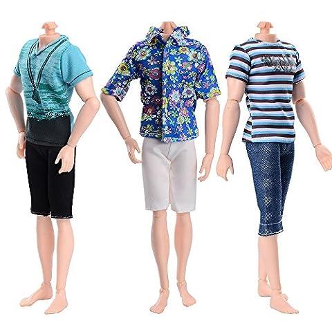 ASIV Fashion Clothes for Ken Barbie Friend 3Sets