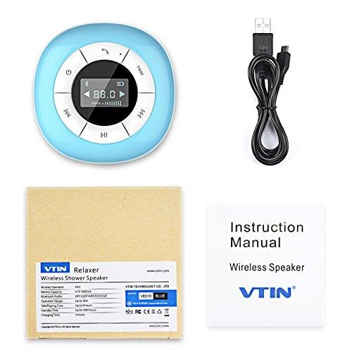 VTIN Mini Bluetooth 4.0 Lautsprecher Wasserdicht Wireless – Subwoofer Effekt für Handys - 7