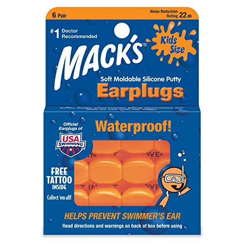 Mack's Kids Silicone Ear Plugs - White -