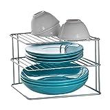 Metaltex 364002095 Palio - Ripiano angolare a 2 piani per armadietto da cucina, 25 x 25 x 19 cm, colore